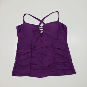 torrid Swim - Torrid Purple Ruched Tankini Swim Set 3X 24-24